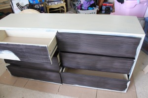 One coat of shellac based primer.