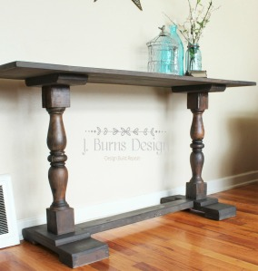 Baluster Console Table finished with OFMP and Daddy Van's