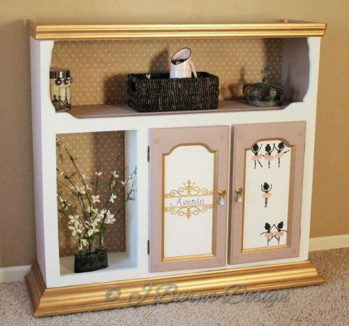 Up Cycle An Old Hutch Into A Little Girls Dress Up Closet